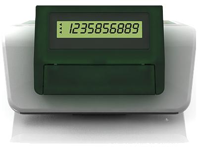 Zákaznícky displej s veľkými číslicami