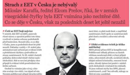 Strach z EET v Česku je nebývalý