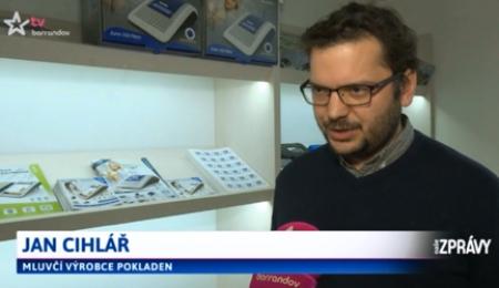 Elcom pokladny v zprávách TV Barrandov
