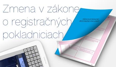 Zmena v zákone o registračných pokladniciach
