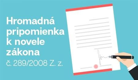 Dôležité informácie k zmene zákona 289/2008 Z. z.