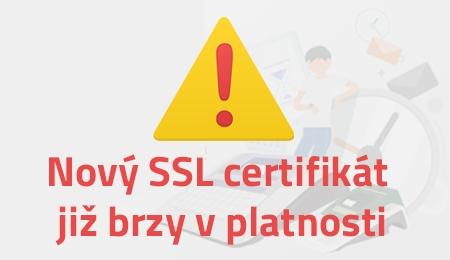 Nový SSL certifikát nevyžaduje žádný zásah do pokladny