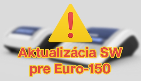 Uvoľnenie aktualizácie softvéru pokladnice Euro-150