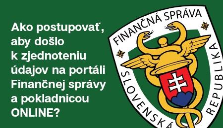 Ako postupovať, aby došlo k zjednoteniu údajov na portáli Finančnej správy a pokladnicou ONLINE?