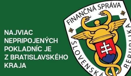 Najviac nepripojených pokladníc je z Bratislavského kraja