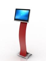Stojan KIOSK pre Uniq PC 190, 130 cm, červený