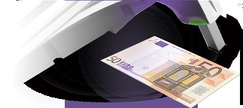 Kontrola bankoviek priamo v pokladnici