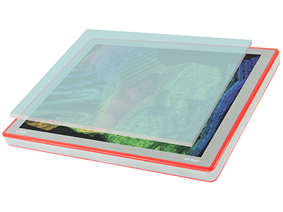 Protected and easily readable display