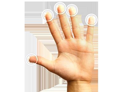 Ovládání všemi 10-ti prsty současně