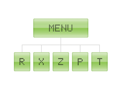 Einfaches und intuitives Menü