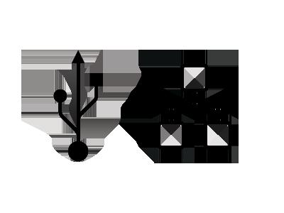 USB a LAN pre jednoduchšiu komunikáciu s PC