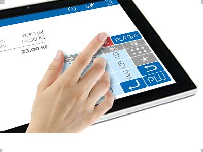 Intuitivní a jednoduché ovládání dotykové obrazovky