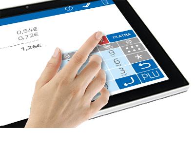 Intuitívne a jednoduché ovládanie dotykovej obrazovky