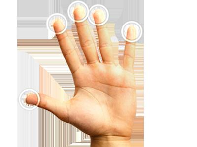 Ovládanie všetkými 10-timi prstami súčasne